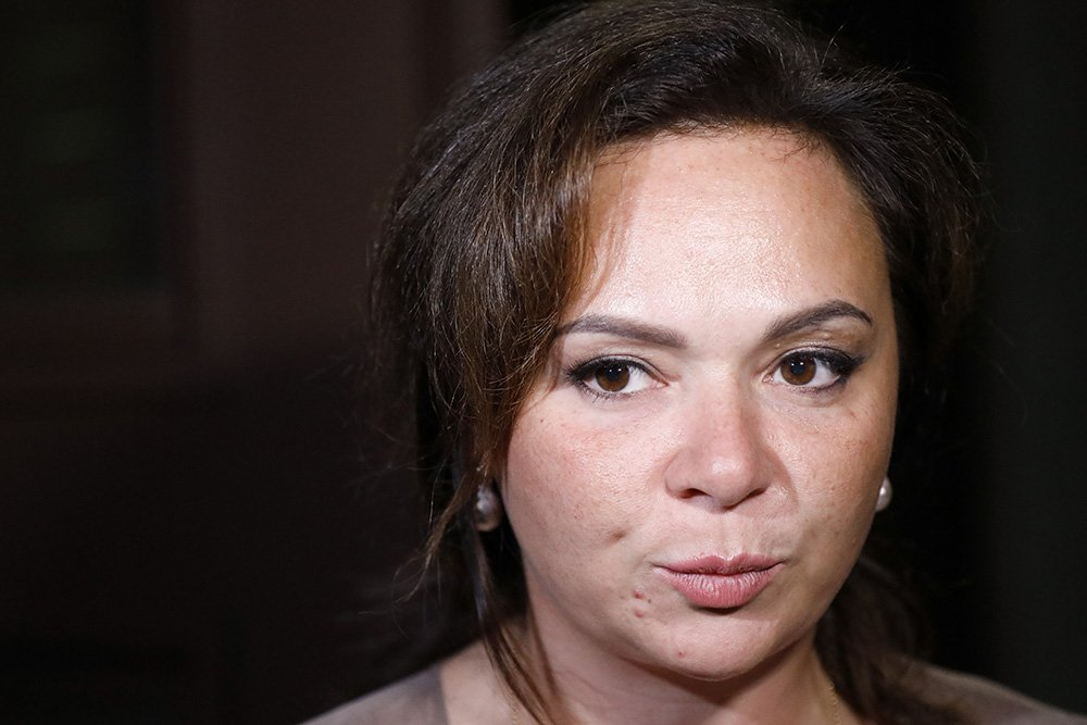 Russian lawyer Natalia Veselnitskaya speaks to journalists in Moscow on July 11, 2017.
