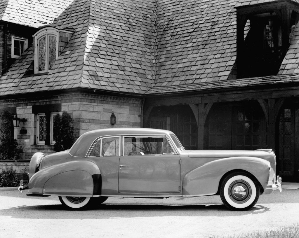 A 1940 Lincoln Continental coupe.