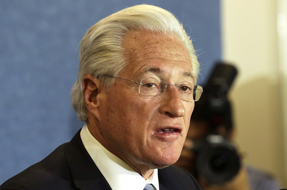Marc Kasowitz, President Trumps' personal attorney, speaks to the news media after the congressional testimony of former FBI Director James Comey on June 8, 2017.