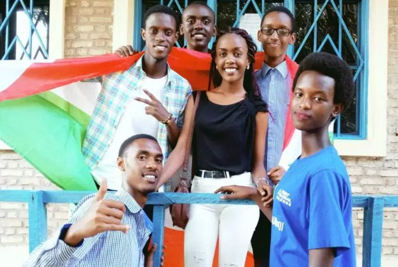 Members of the Team Burundi team in a photo displayed on the FIRST Global Challenge website.