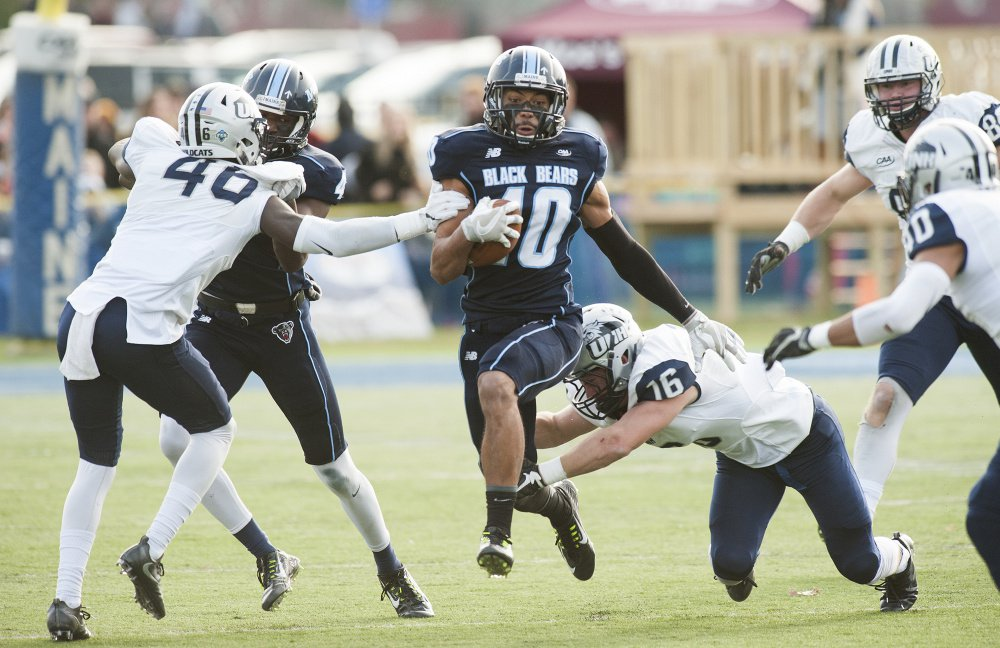 Micah Wright, who is one of three members of the UMaine football team who have been suspended, led the Black Bears last season with 44 catches for 688 yards. This season he was a first-team all-Colonial Athletic Association preseason selection.