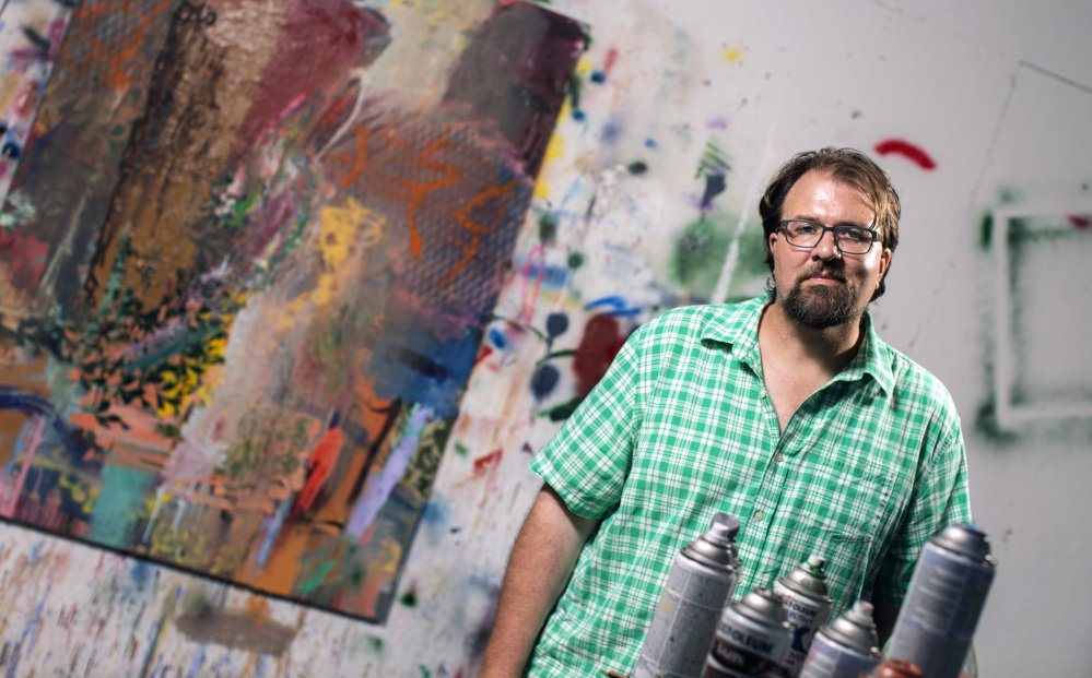 James Graham in his Brunswick studio.