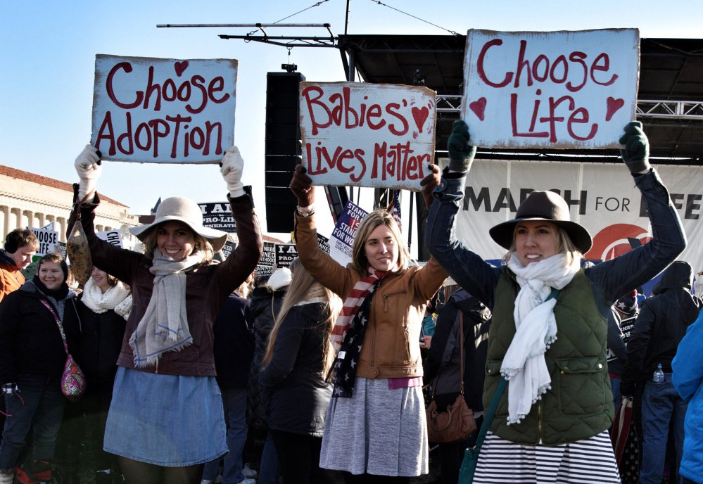 A March for Life rally in Washington, D.C., in January.  Groups are challenging the Democratic Congressional  Campaign Committee's suggestion to back abortion-rights candidates.