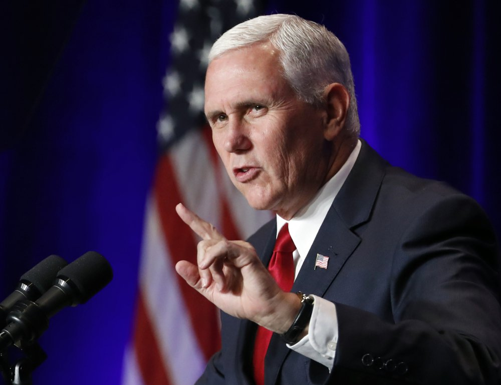 Vice President Mike Pence speaks at the National Conservative Student Conference Friday in Washington.