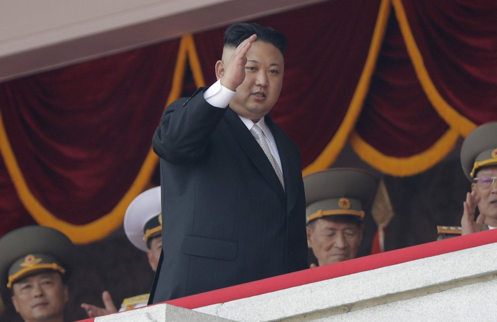 North Korean leader Kim Jong Un waves during a military parade in Pyongyang, North Korea, in April. Kim has repeatedly proclaimed his intention to field a fleet of nuclear-tipped ICBMs as a guarantor of his regime's survival.