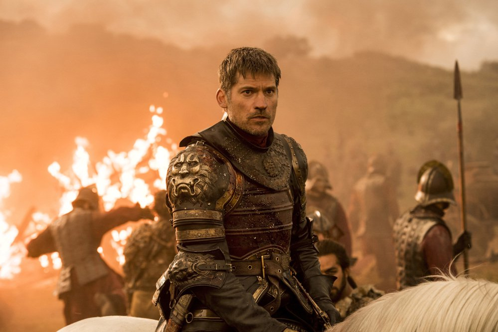 "This file image released by HBO shows Nikolaj Coster-Waldau as Jaime Lannister in an episode of ""Game of Thrones,"" which aired Aug. 6. Material hacked from HBO included scripts from five ""Game of Thrones"" episodes."