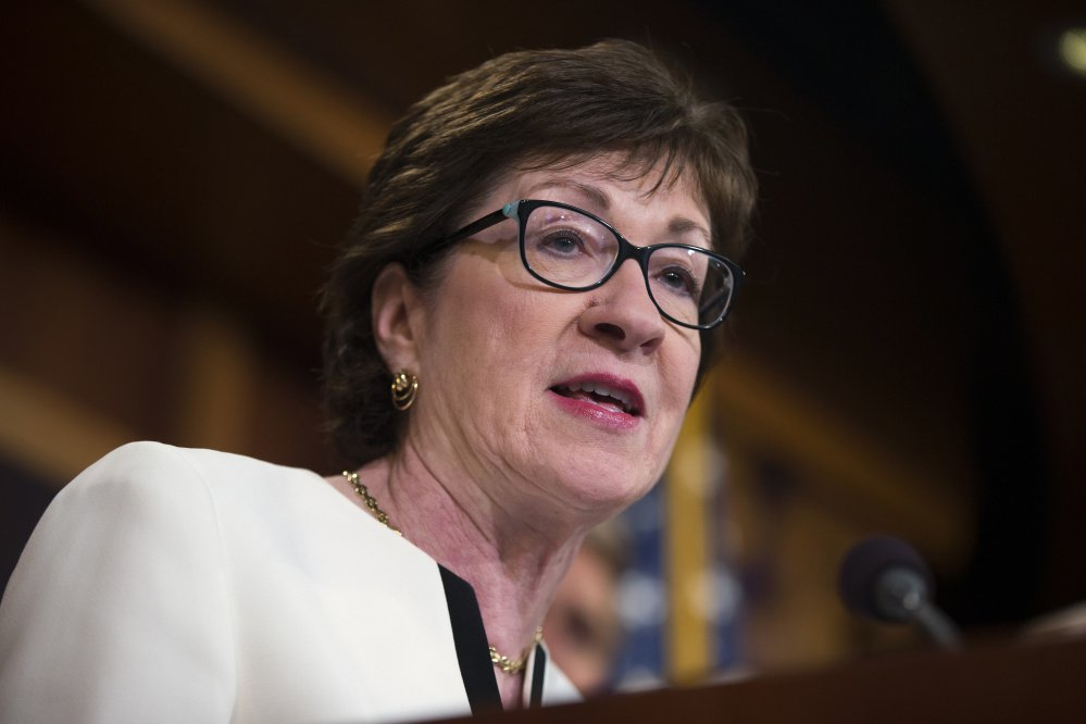 U.S. Sen. Susan Collins, R-Maine, told MSNBC on Tuesday that she wasn't sure Donald Trump would be the Republican Party nominee in 2020.