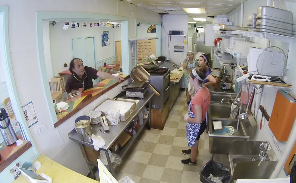 A security camera captured the July 29 disturbance at Sisters Gourmet Deli in Monument Square as a man, later identified as Jesse James Taylor, verbally accosted female employees for more than 10 minutes.