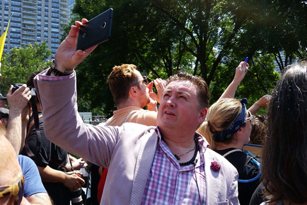 Tony McAleer attends the âEURoeFight Supremacy! Boston Counter-Protest & Resistance RallyâEUR on Boston Common on Aug. 19. McAleer spent 15 years as a recruiter for the White Aryan Resistance before co-founding the nonprofit Life After Hate. (Melissa Bailey/KHN)