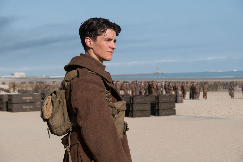 "Fionn Whitehead is Tommy in ""Dunkirk."""
