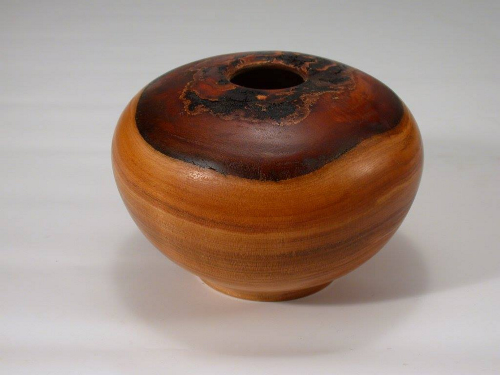 Cherry Burl vase by Richard Dunham