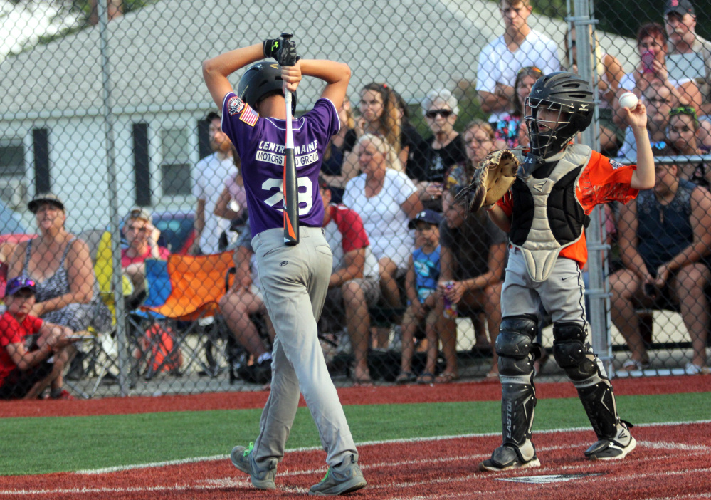 Waterville's Spencer Brown reacts after striking out against Brunswick, Maine in a Cal Ripken 11U Regional Tournament semifinal Wednesday at Purnell Wrigley Field in Waterville.