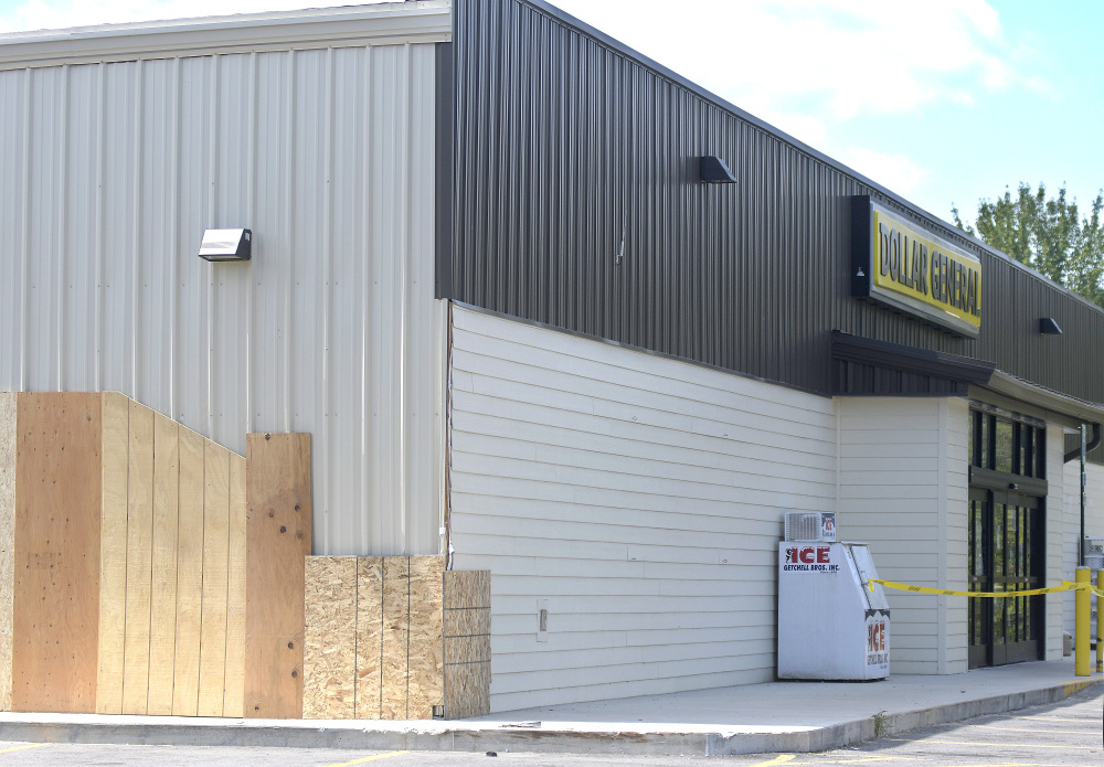 The Dollar General Store in Litchfield on Monday after a vehicle damaged it Friday.