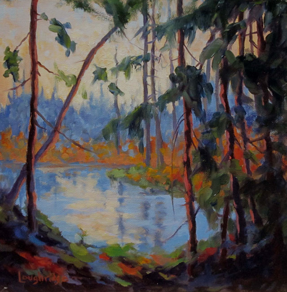 """Pond Light,"" oil on canvas."