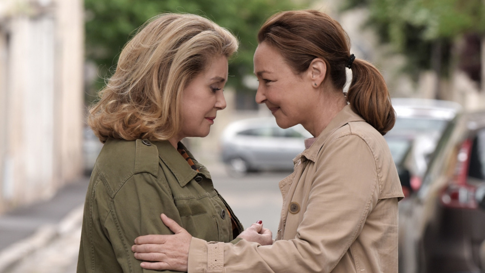 "Catherine Deneuve, left, and Catherine Frot in ""The Midwife."""