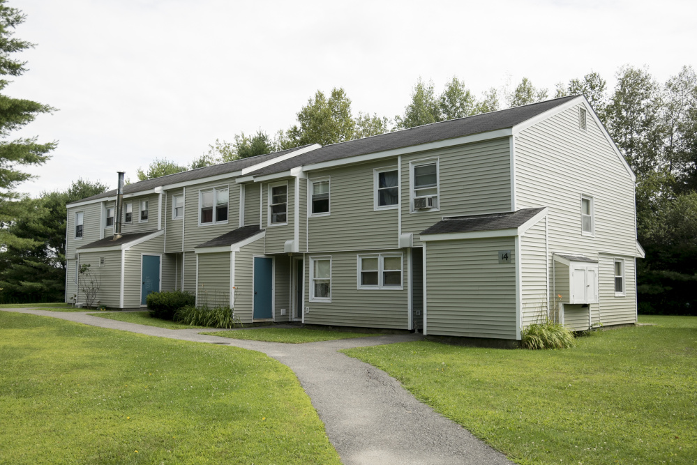 One of the buildings at West Front Residences on Family Circle in Skowhegan, seen Tuesday, has been bought by Steele Properties.