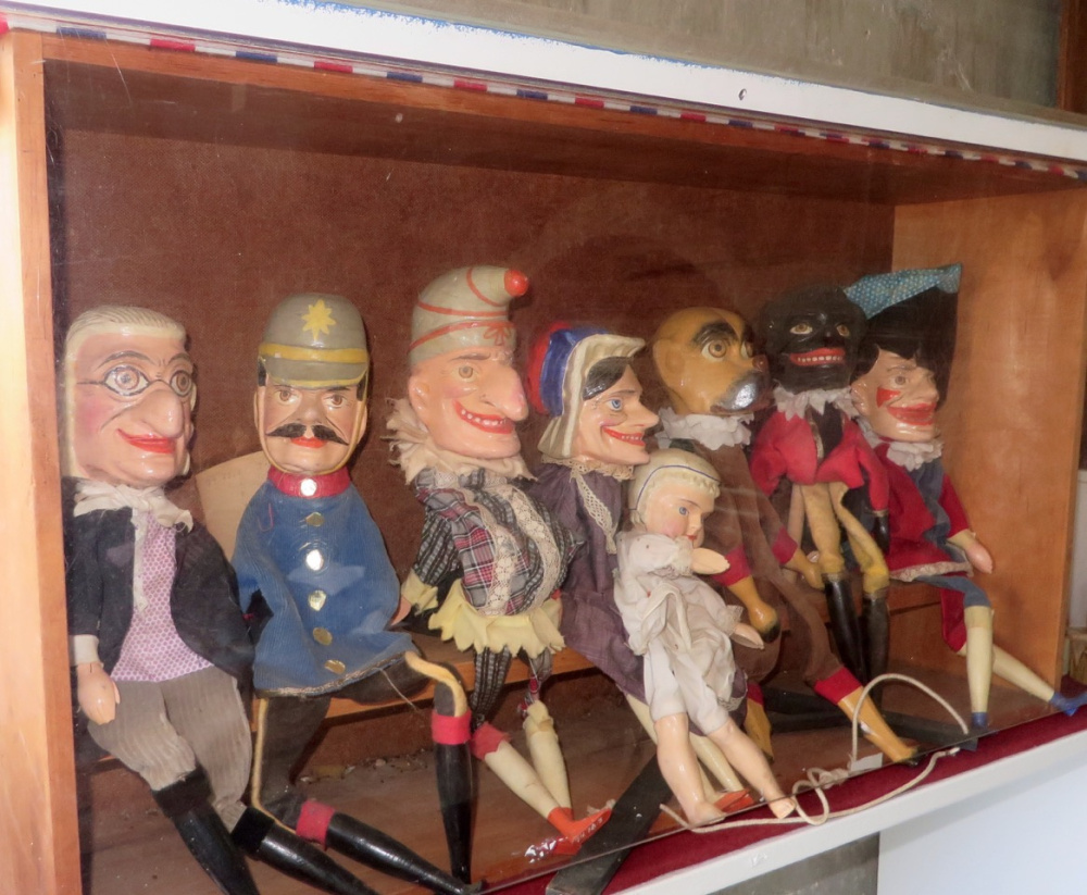 A rare complete set of Punch and Judy puppets (Germany c. 1900) is part of a special exhibit of toys at the Pownalborough Court House.