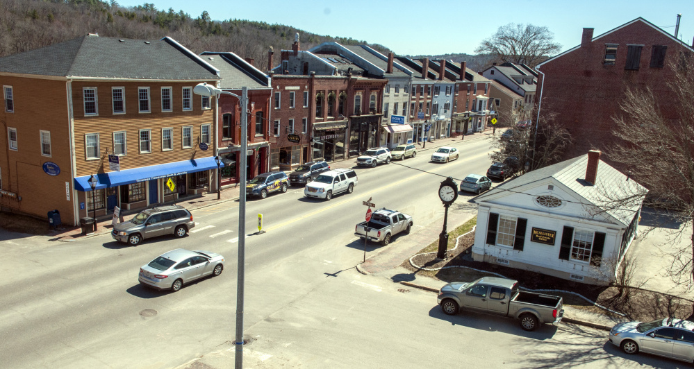Water Street in Hallowell, shown in this April file photo, will be rebuilt next year, and the local utilities district is warning residents and businesses they need to have their drainage systems inspected to ensure that their basements won't be flooded during the project.