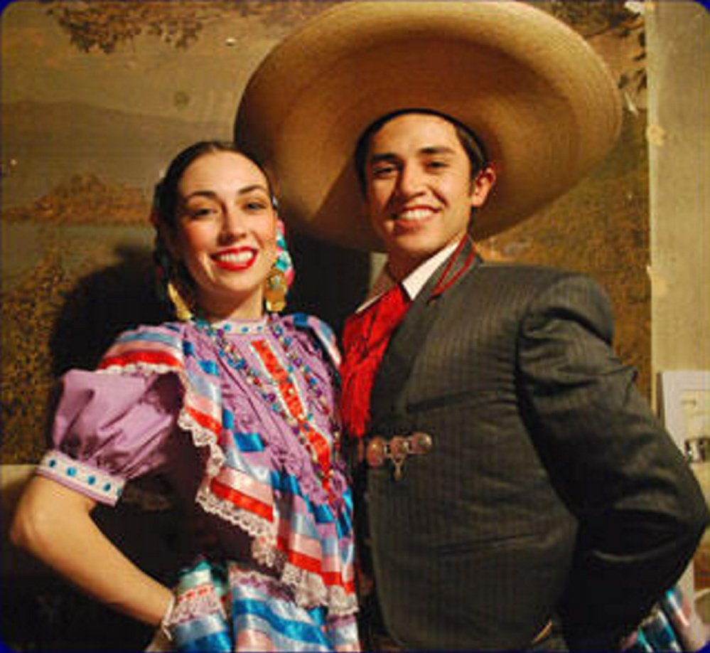 Kareli Montoya, left, and Jonathan Trejo will perform a formal Mexican Folklórico Saturday, Aug. 26, in Vienna.
