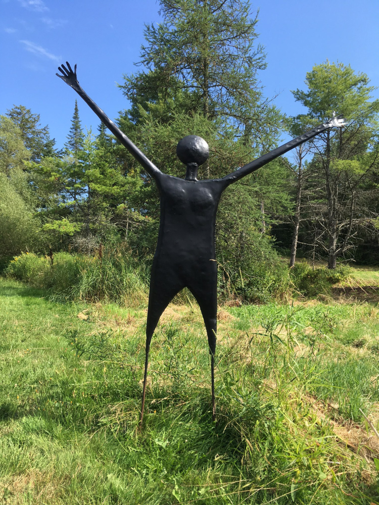 """""""Dancing Girl,"""" a sculpture by Wiscasset's Bryan Buck, will be on display in Garden Art in the Courtyard, hosted by In the Clover, during the Wiscasset Art Walk scheduled for 5-8 p.m. Thursday, Aug. 31."""