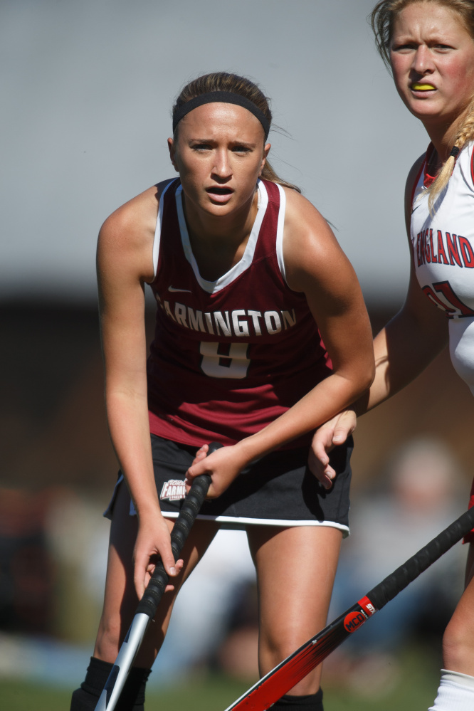 University of Maine at Farmington forward Emmah Spahr, a Winthrop native, leads a deep and talented squad this fall.