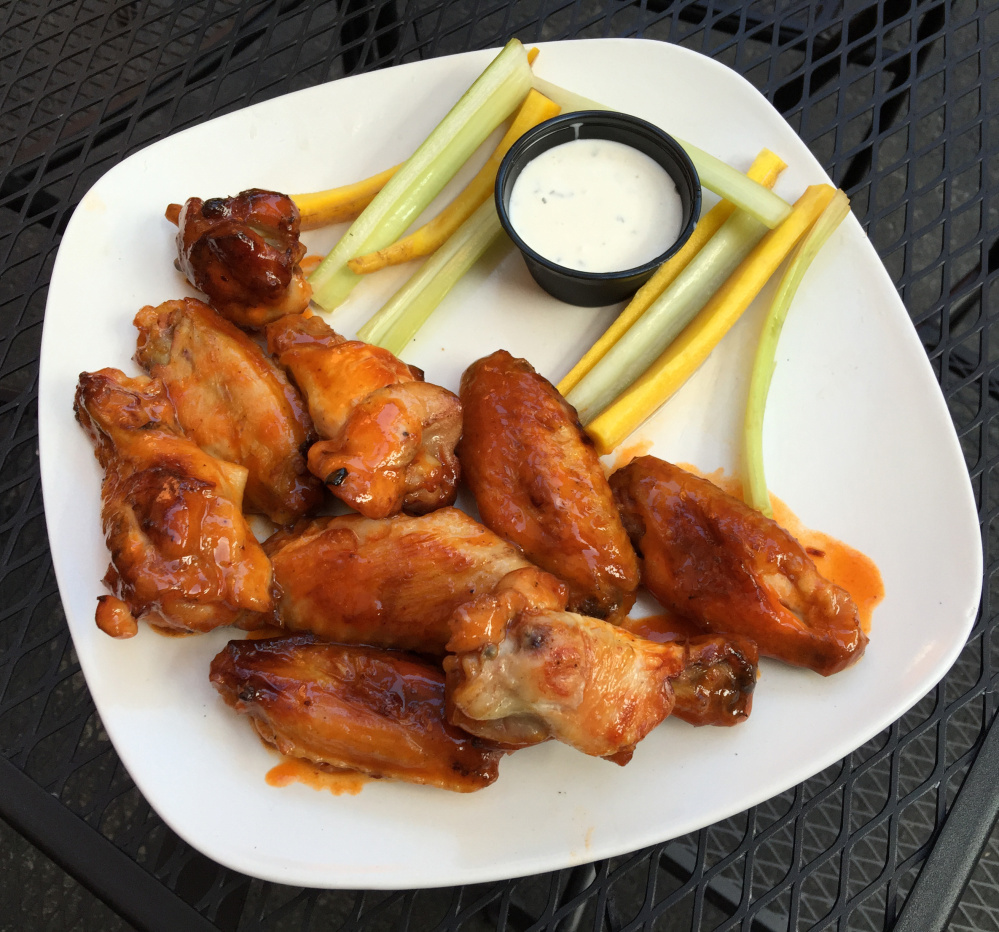 Wood-fired Buffalo wings