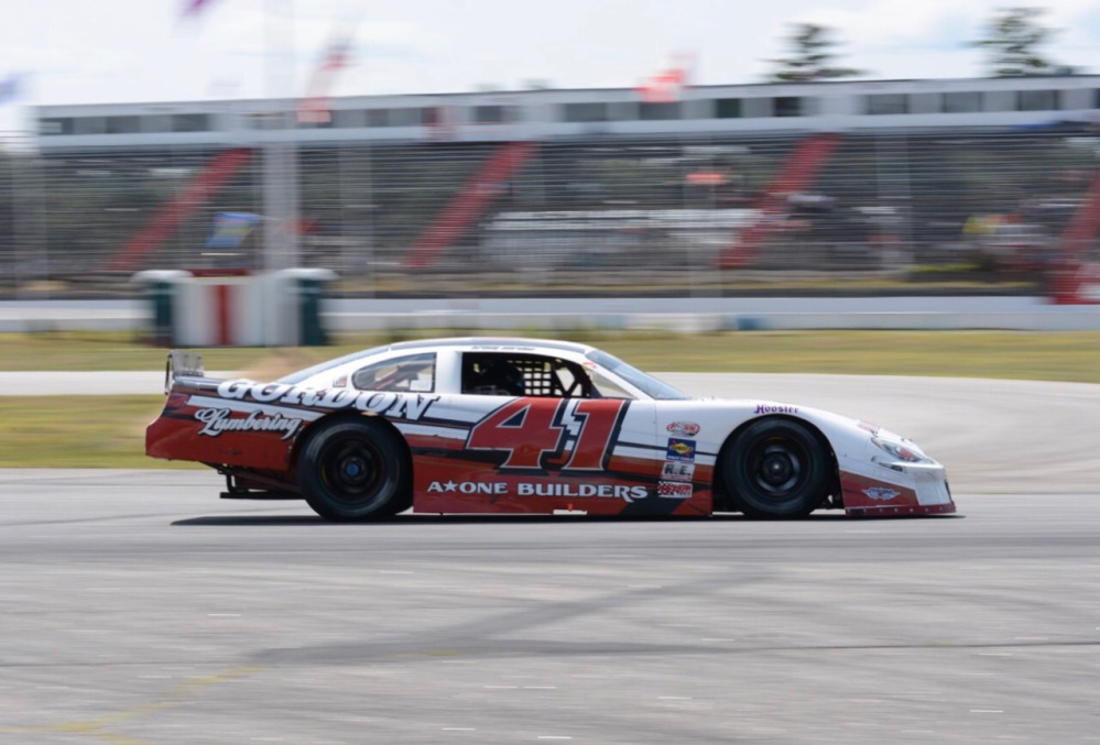 Tracy Gordon turns a lap during Oxford 250 practice on Saturday at Oxford Plains Speedway.