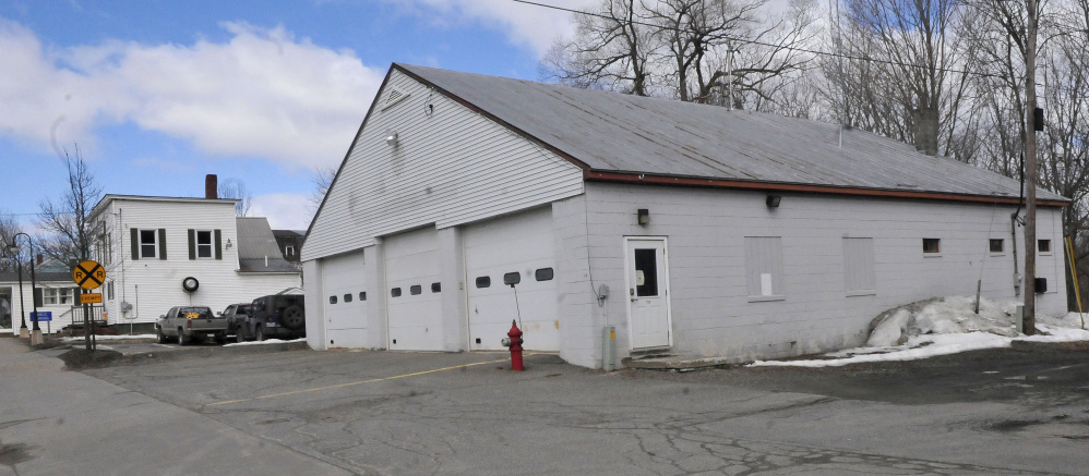 The former Norridgewock Fire Department building on Main Street on March 30. Norridgewock Selectmen agreed to sell the station to Eric Everett, of Everett's Tire LLC.