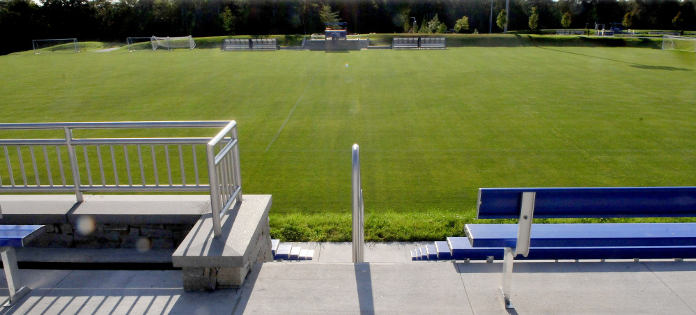 The Colby College men's soccer team will play on this new field this season.