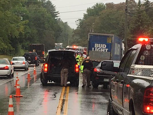 Route 302 in Naples was closed to one lane between Lambs Mills Road and Perley Road late Friday morning after a fatal collision.