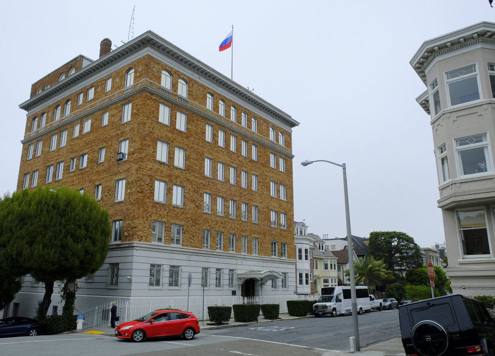 The Consulate-General of Russia in San Francisco. The U.S. forced Russia to close it and also scale back its diplomatic presence in Washington and New York.