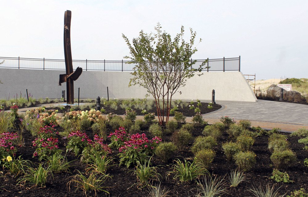 A piece of steel from the destroyed World Trade Center is part of a new memorial being dedicated Monday, on the 16th anniversary of the terror attacks, in Point Lookout, N.Y.