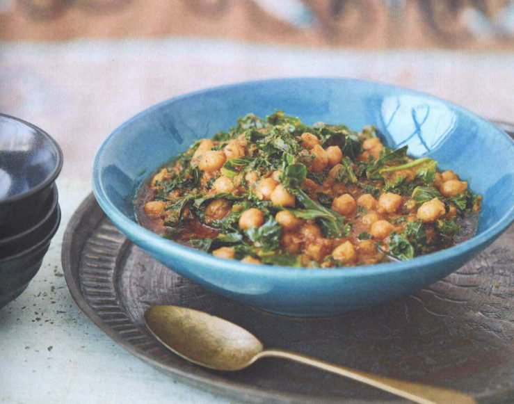 Chickpea, Kale and Coconut Korma.