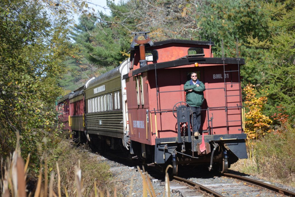 If it's September you can bet Joe Feero will be shuttling people to the Common Ground Fair aboard the Belfast & Moosehead Lake Railroad.