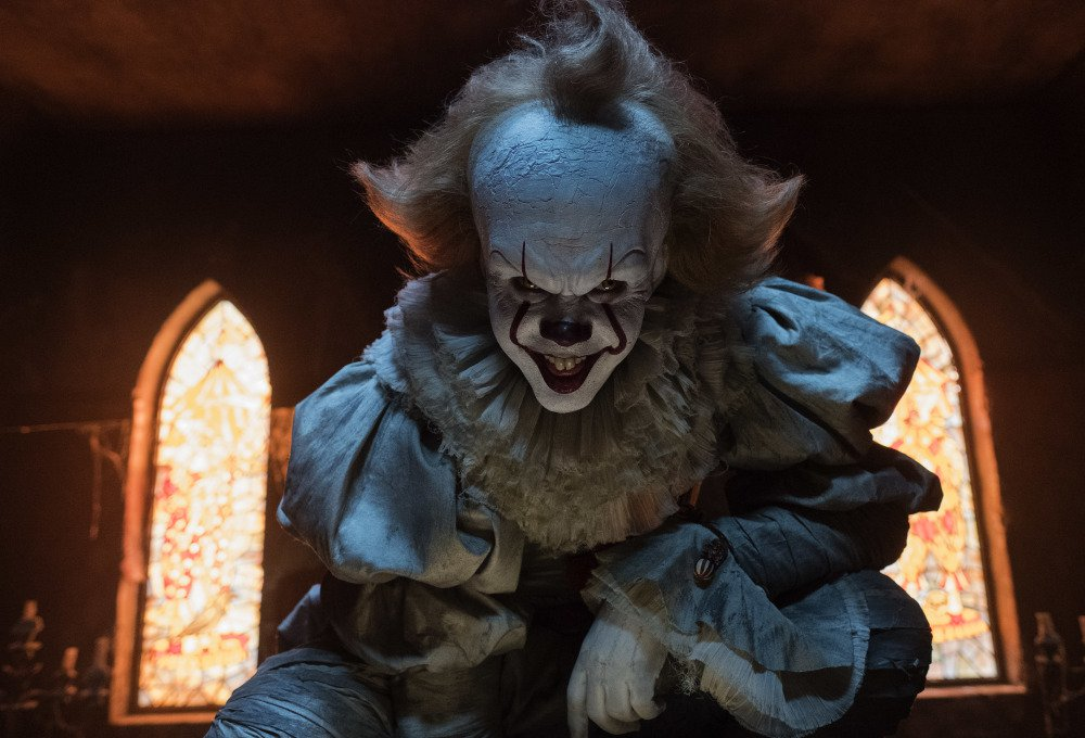 "Bill Skarsgard appears in a scene from ""It."""