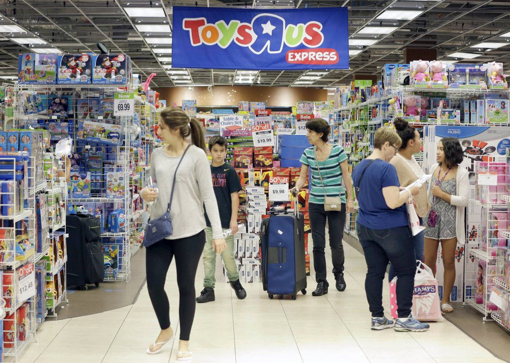 Shoppers in a Toys R Us store last year on Black Friday in Miami. The pioneering big box toy retailer announced it has filed for Chapter 11 bankruptcy protection while continuing with normal business operations.