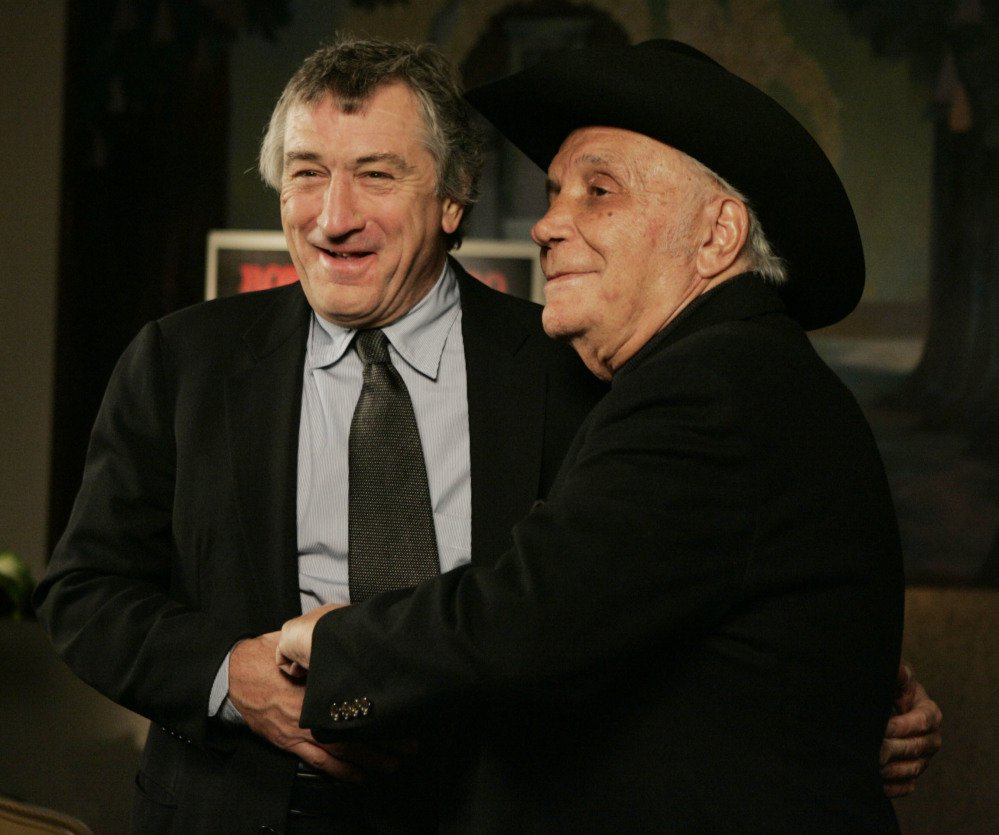 Robert DeNiro and boxer shown in 2005.
