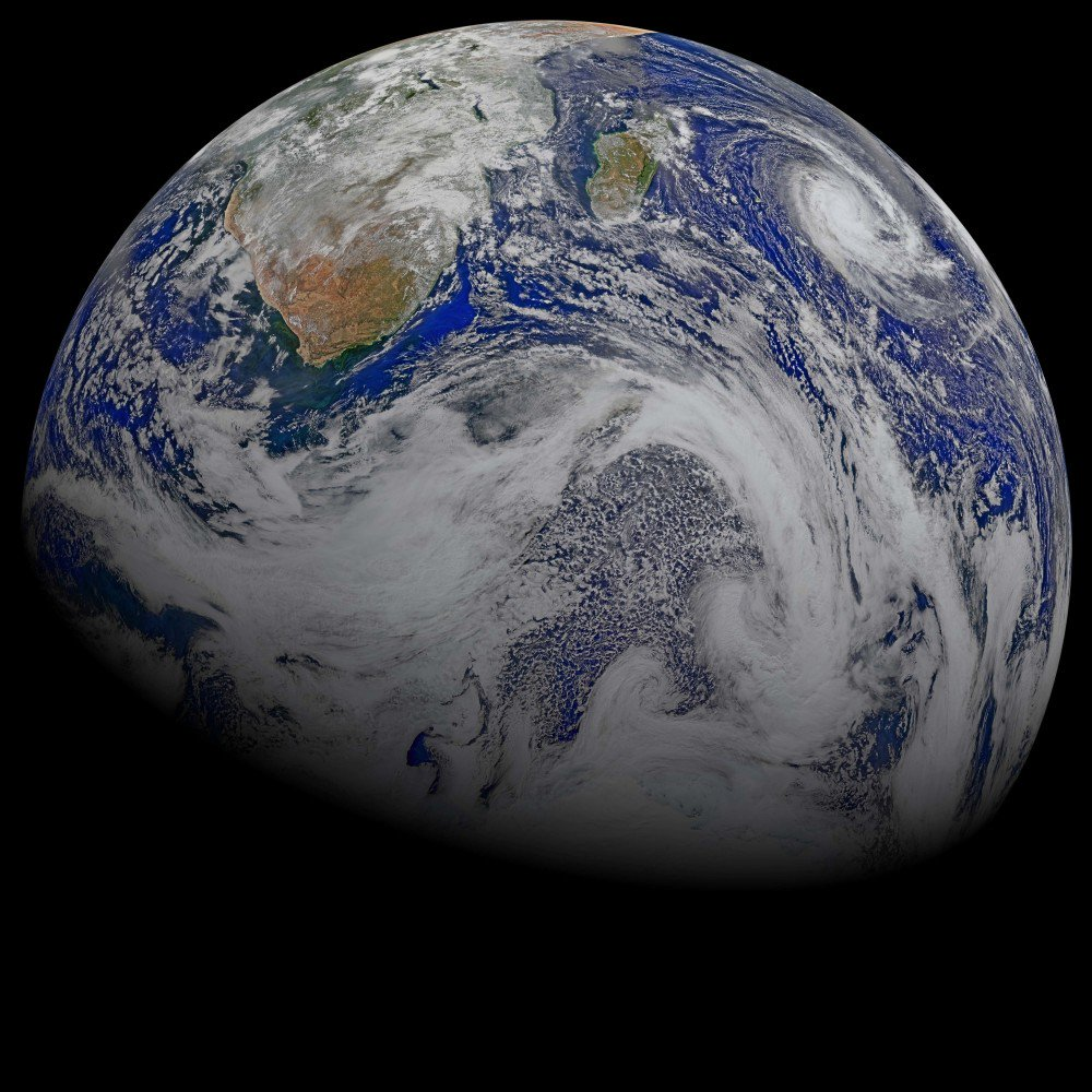 NASA posted to its website this week to debunk numerous false reports that the world would end on Sept. 23. This image consists of data from six orbits by the Suomi-NPP spacecraft on April 9, 2015, that has been assembled into this perspective composite of southern Africa and the surrounding oceans. The image was created by the Ocean Biology Processing Group at NASA's Goddard Space Flight Center in Greenbelt, Maryland.
