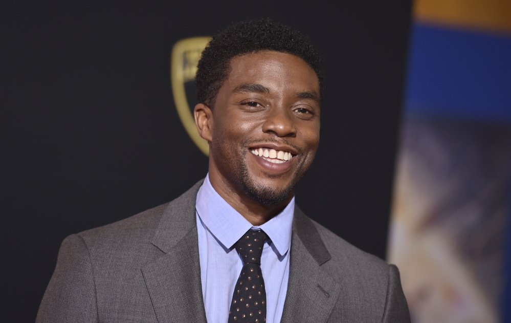 "Chadwick Boseman, who portrays former Supreme Court Justice Thurgood Marshall in the upcoming film ""Marshall,"" called pro football players ""patriots"" for taking a knee in protest of President Trump."