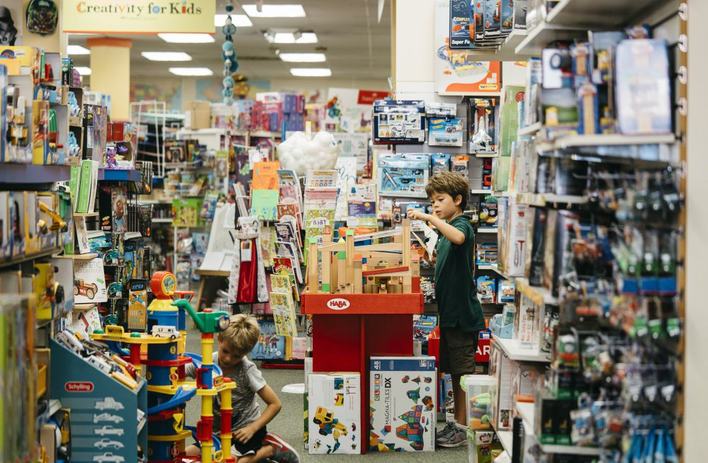 The sprawling store operated by Barston Child's Play in a Chevy Chase, Maryland, neighborhood is a maze of displays and play spaces where the knowledgeable staff plays with the kids and makes it a fun place to hang out.