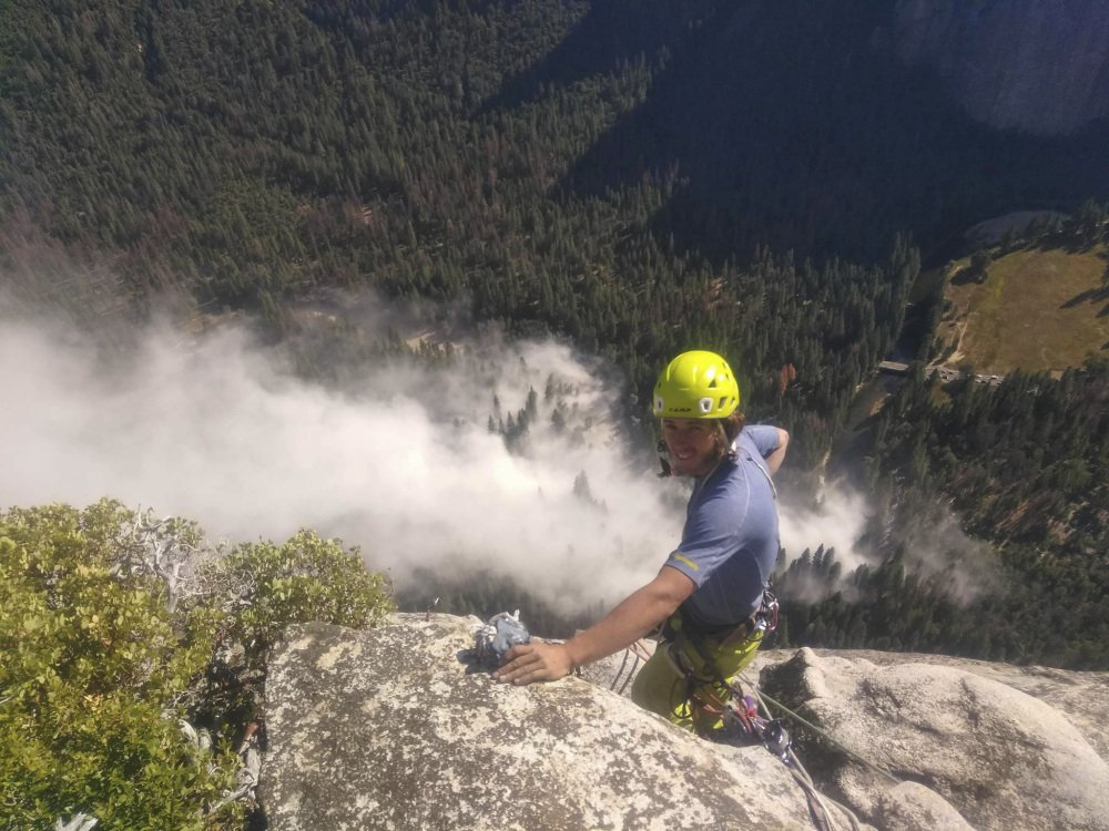 Ryan Sheridan had just reached the top of El Capitan when a rock slide let loose below him on Thursday.