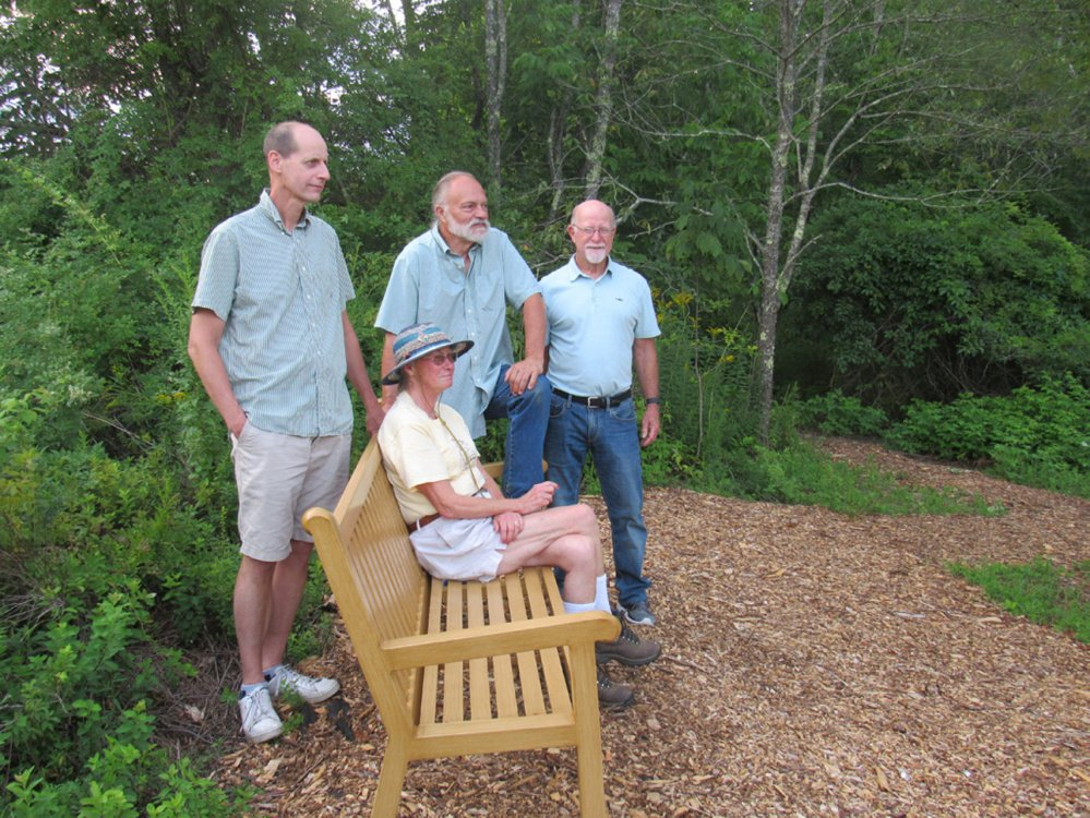 Trail Committee members, from left, are  Bill Stinson, Vicki Harriman, Jerry Sawyer and Peter Duffey.