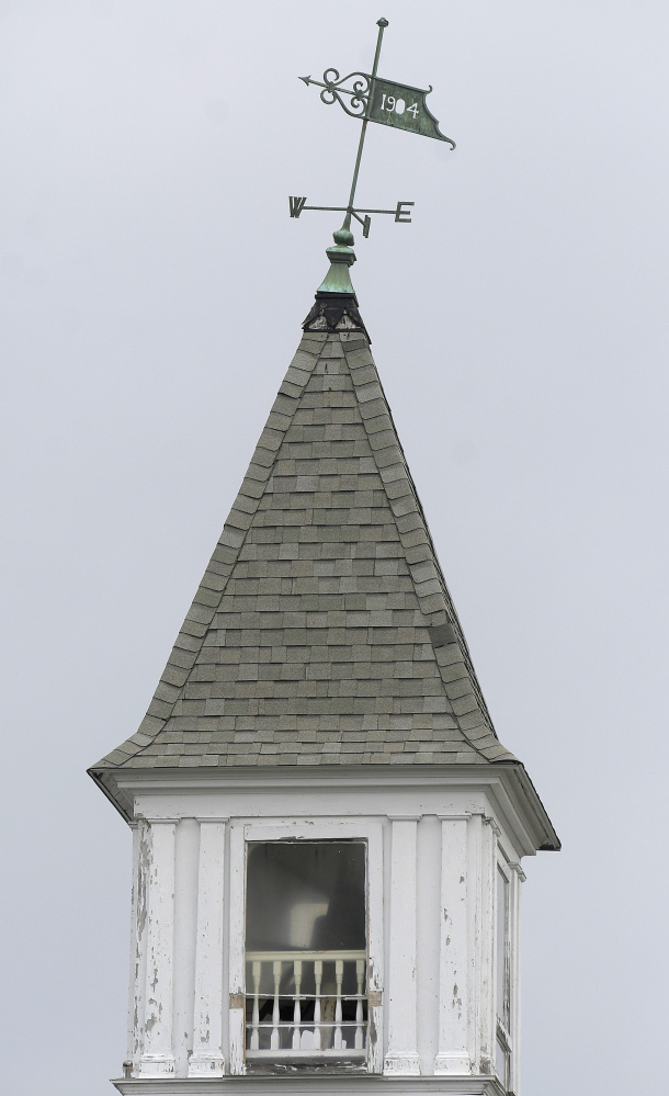 The spire atop the Winthrop Congregational Church needs to be repaired and is one of the items that would be fixed with money raised during a capital campaign.