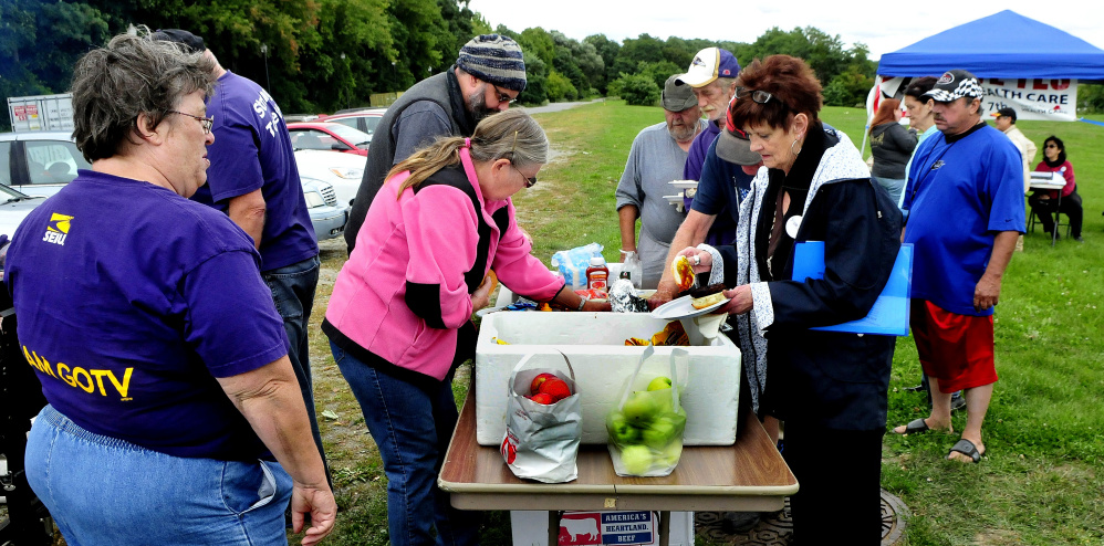 The public was welcome and treated to a lunch during a Labor Day rally in Waterville on Sunday.