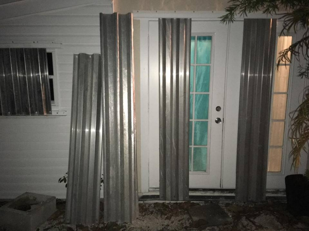 Nick Courant, who grew up in Waterville, stormproofed his home in Big Pine Key, Fla., seen here, ahead of the arrival of Hurricane Irma. Among other things, he placed metal shutters over his windows to protect them from heavy wind and projectiles.