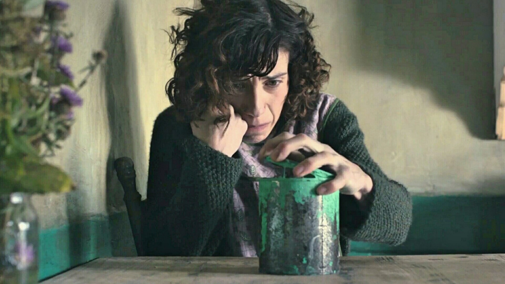 "Sally Hawkins is Maud Lewis in ""Maudie."""