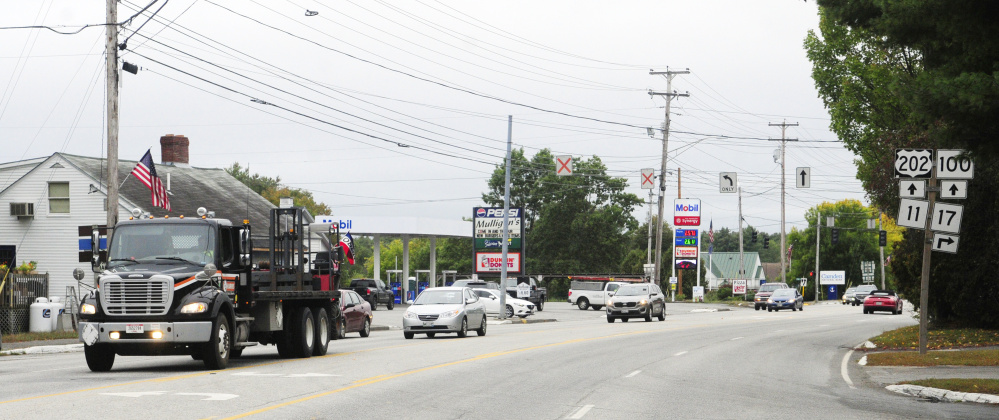 This photo taken on Wednesday shows outer Western Avenue in Manchester, where town officials are hoping to attract new businesses.