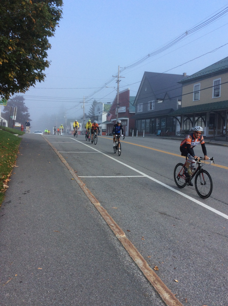 Bicyclists in the 2017 MaineBike event, offered by the Bicycle Coalition of Maine, spent Sept. 12-14 in the Town of Rangeley.