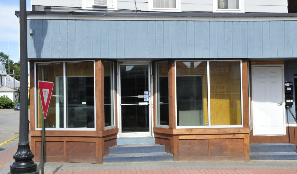 The downtown storefront once occupied by Maine Barkery stands empty Thursday in Skowhegan. The owner, Amanda Clark, was the first winner of the Entrepreneur Challenge in 2016. The Challenge winner is expected to create or expand a business in Skowhegan. Clark moved her business out of town earlier this year. Sponsors created new requirements to ensure the winner stays in town.