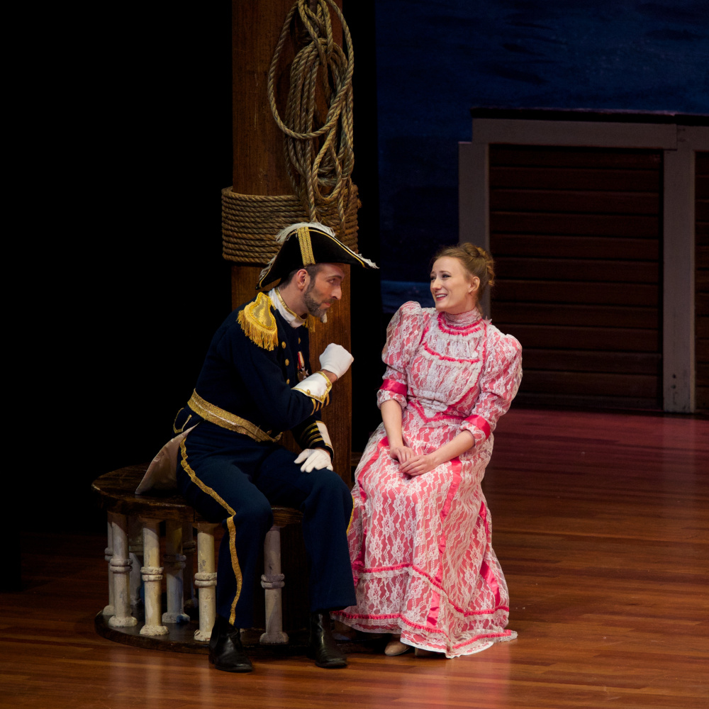 David Auxier as Capitan Corcoran, left, and Kate Bass as Josephine in